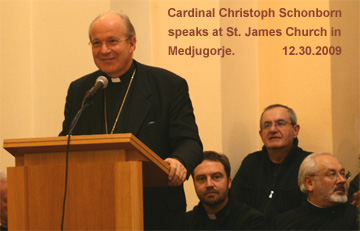 Talk of Cardinal Schönborn speaks in Medjugorje