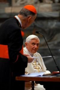 Pope Benedict XVI and Cardinal Camillo Ruini