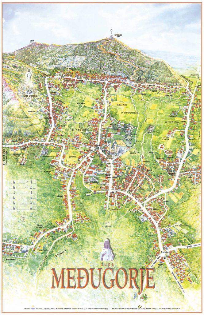 Medjugorje-Map